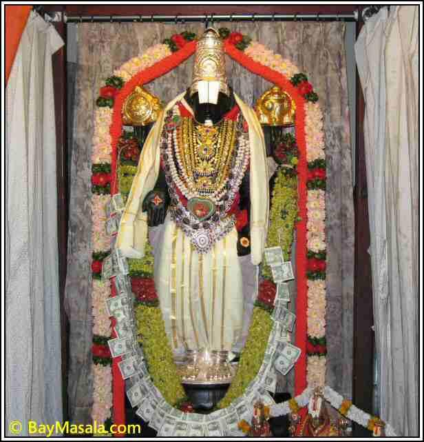 Balaji in Lakshmi Ganapati Temple © BayMasala.com