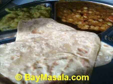 saravanaa bhavan chapathi   - Image © BayMasala.com