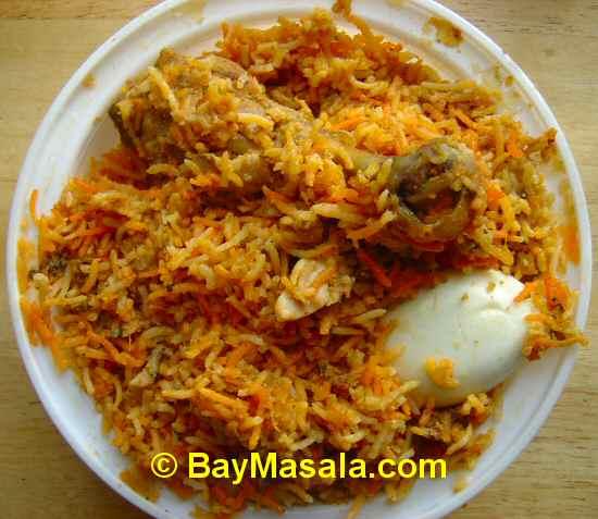 Hyderabad Dum Chicken Biryani image © BayMasala.com