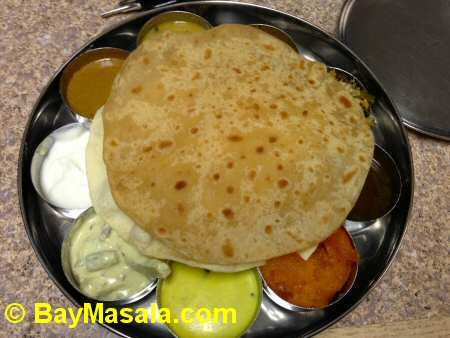 tirupathi bhimas milipitas non-spicy thali - Image © BayMasala.com