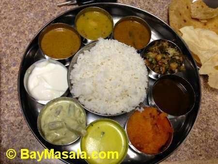 tirupathi bhimas milpitas non-spicy thali