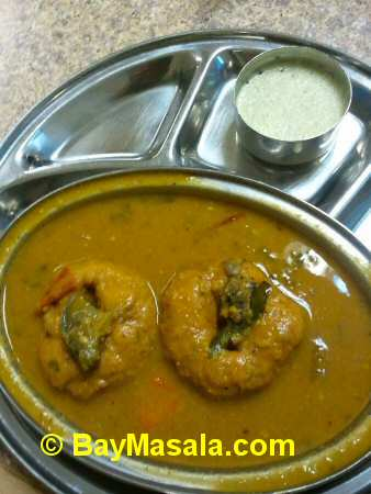 tirupathi bhimas milipitas sambar vada - Image © BayMasala.com